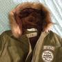 Jaqueta Inverno Feminino Militar Pele Casaco C/ Capuz Import
