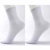 Meias Masculino Esportes Atacado Revenda Branca Kit 12 Pares