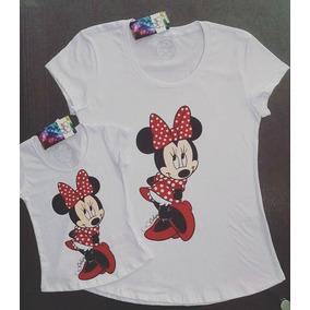 Blusa T-shirt Bata Camiseta Tal Mãe Tal Filha Minnie