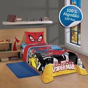 Edredom Spider Man Homem Aranha 100% Algodão 1 Peça Lepper