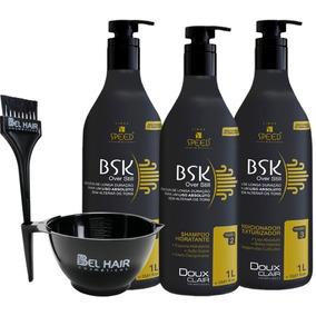 Doux Clair Progressiva Bsk 0% Formol 3x1l+ Kit Cumbuca Bel