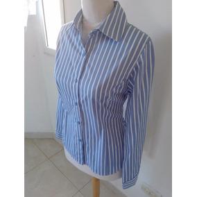 Camisa Mujer Elastizada Rayada