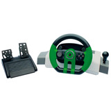 Volante Gamer Dazz Gt Force Feed Back Para Xbox 360 - Verde