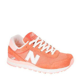 Tenis Casual Dama New Balance Color Naranja Textil Is974