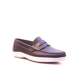 Zapatos Mocasines Náuticos Febo 351 Cuero Azul