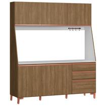Cozinha Compacta Kappesberg F740 - Nogal E Branco