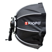 Softbox Difusor Triopo Hexa 55cm C/ Rotula P/ Flash Zapata
