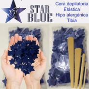 Cera Azul Elástica En Perlas Starblue  2 Kilos + Espatulas