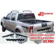 Adhesivos Tipo Raptor Nissan Terrano, Portalón Y Laterales