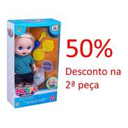 Promoção Boneco Babys Collection Com Comidinha 357