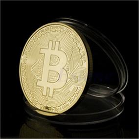 Bitcoin Moeda Física Medalha Banhada Ouro