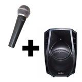Set Karaoke Bafle Activo Acústica 8 + Mic E-sound Es58 Caba