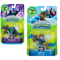 Combo Bonecos Skylander Swap Force Boom Jet + Trap Shadow