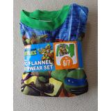 Pijama Térmica Tortugas Ninja Talla 6 - 7