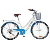 Bicicleta Bianchi Paseo Aro 24 Lady Color Blanco / Azul