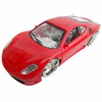Ferrari Carrinho Controle Remoto Roda Farol Com Led Promoção