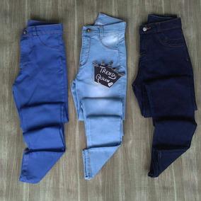 Pantalón Jeans Damas Corte Alto Talla Xs Ss S M L Xl