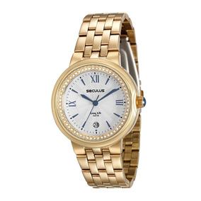 Relógio Feminino Seculus Pulseira De Aço - 23542lpsvda1
