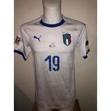 09c4b79467 Camisa Itália Away 18-19 Bonucci 19 Usada Em Jogo V Portugal