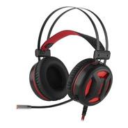 Headset Gamer Redragon Minos Preto E Vermelho Com Luz Led