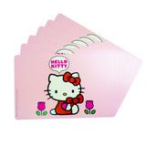 Pack 6 Individual Mantel Pvc Hello Kitty Original Artentino