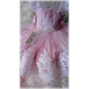 Vestido Rosa Blanco Niña Elegante Envio Gratis