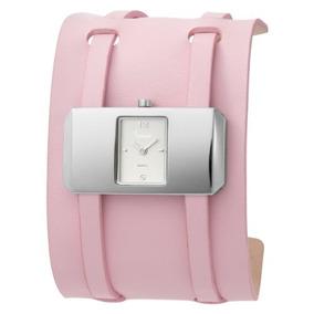 Reloj De Pulsera De Cuero Rosa Freelook Ha Para Mujer