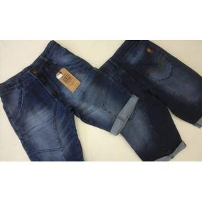 6 Bermudas Jeans Infantil Masculina - Detalhes Na Costura