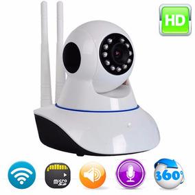 Câmera Ip Hd 720 Sem Fio Wifi Antena Cartão Sd Infinita P2