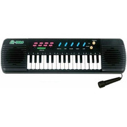 Teclado Piano Musical Center Infantil + Microfone Karaoke