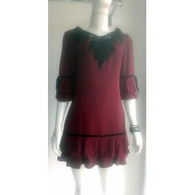 Vestido Da Marca Karmiss Cor Vinho Tecido Veludo Tam M Linda