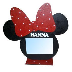 Portaretrato Minnie, Mickey Foto 10x15 Con Nombre
