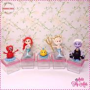 10 Lembrancinha Caixa Acrílica, Aplique Em Biscuit Sereia 2