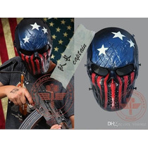 Mascara Capitan America Careta Gotcha Paintball Airsoft