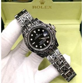 0582b646ed8 Relógio Rolex Skull Skeleton+caixa+frete Grátis