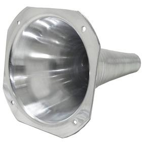 Corneta Cone Longo De Alumínio Encaixe Rosca E Boca Quadrada
