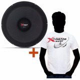 Auto Falante Shutt 18 Polegadas 3k 1500w Rms Sub + Camiseta