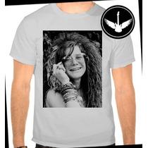 Camiseta Janis Joplin Ou Baby Look Regata Banda Rock Camisa