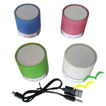 4 Peças Caixa Som Caixinha Bluetooth Radio Fm Diversas Cores