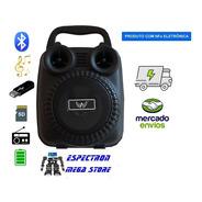 Caixa De Som Bluetooth Led Com Led Radio Fm Media Portátil