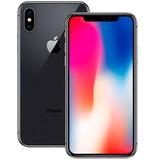 Apple Iphone X 10 64gb Prata Preto A1901 Original Lacrado