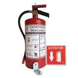 Extintor Polvo Quimico Seco Abc 4.5kg Soporte Y Letrero