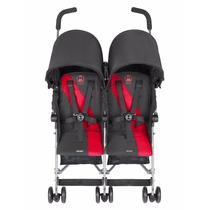 Carrinho Para Gêmeos Twin Triumph Vermelho 50kg - Maclaren