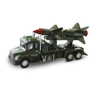 Miniatura Caminhão Exército Colecionador Misseis Militar