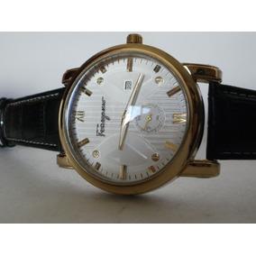 Elegante Reloj Salvatore Ferragamo, Fechador, Envio Gratis