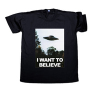 Remera X Files I Want To Believe Mulder Scully