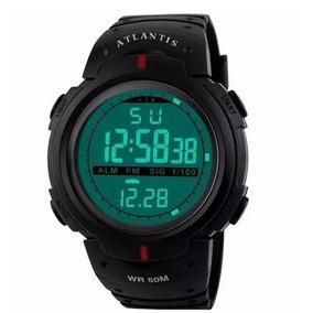 Relógio Masculino Atlantis Esportes Prova D Água Militar