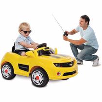 Mini Carro Elétrico + Controle Remoto Criança Pai Camaro 6v