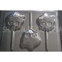 *molde Paletas De Chocolate 3 Calaveras Monster High Mediana