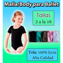 Malla Body Para Ballet Niñas Y Jóvenes